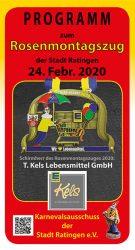 Programm zum Rosenmontag 2020